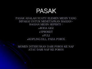 PASAK