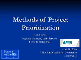 Methods of Project Prioritization