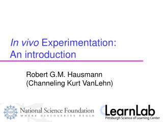 In vivo Experimentation:  An introduction