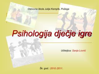 Psihologija dječje igre