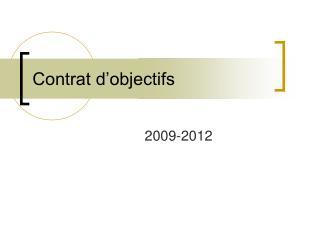 Contrat d'objectifs
