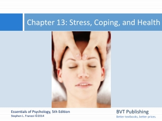 Chapter 13 : Psychology  Health
