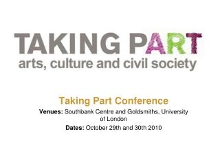 TAKING PART CONFERENCE: OPEN SPACES: SUMMARY