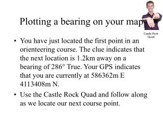 Plotting a bearing on your map