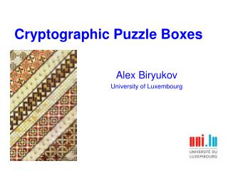 Cryptographic Puzzle Boxes