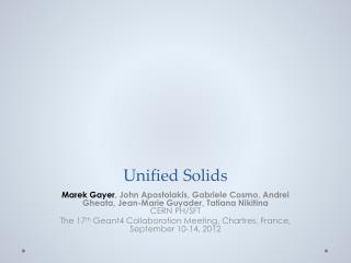 Unified Solids