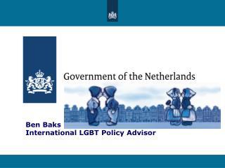 Ben Baks  International LGBT Policy Advisor