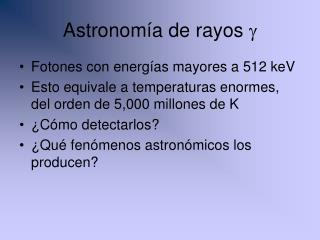 Astronomía de rayos  g