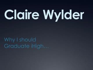 Claire Wylder