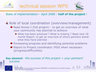 technical session WP0
