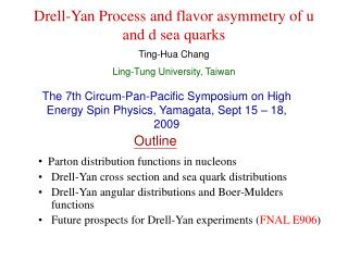 Drell-Yan Process and flavor asymmetry of u and d sea quarks