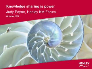 Knowledge sharing is power