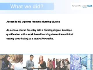 Access to HE Diploma Practical Nursing Studies