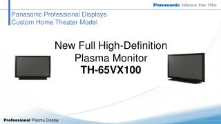 Panasonic Professional Displays Custom Home Theater Model