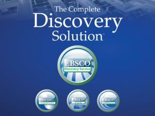 EBSCO Discovery Service (EDS) Nedir ?