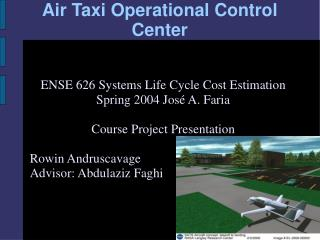 Air Taxi Operational Control Center