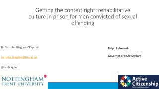 Incarcerated Veterans   Effective Transition, Preparation and Support
