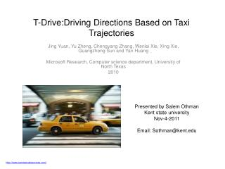 T-Drive:Driving Directions Based on Taxi Trajectories