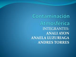 Contaminaci�n Atmosf�rica