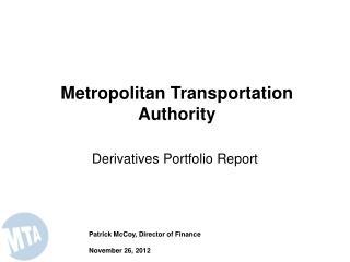 Derivatives Portfolio Report