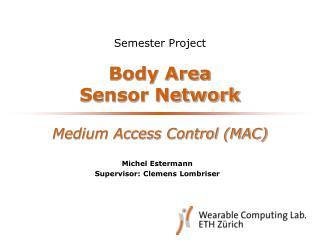 Body Area  Sensor Network