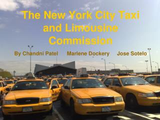 The New York City Taxi and Limousine Commission
