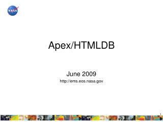 Apex/HTMLDB