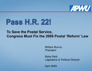 H.R. 22 Presentation - PowerPoint 2007 version 2.5 MB