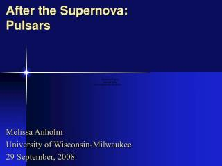 After the Supernova: Pulsars