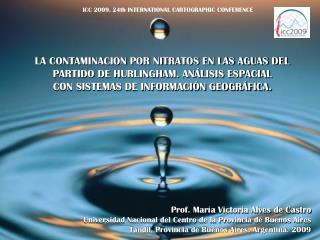 LA CONTAMINACION POR NITRATOS EN LAS AGUAS DEL  PARTIDO DE HURLINGHAM. ANÁLISIS ESPACIAL