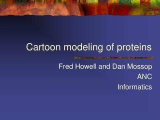 Cartoon modeling of proteins