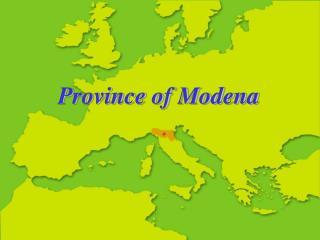 Province of Modena