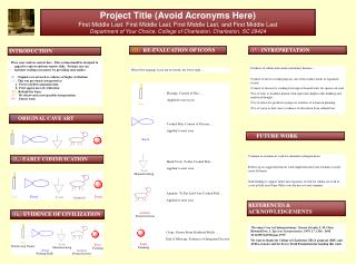 Project Title (Avoid Acronyms Here)