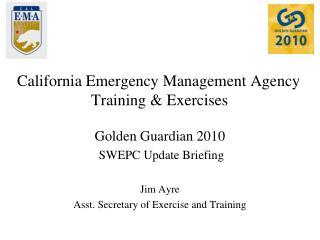 California Emergency Management Agency Training & Exercises
