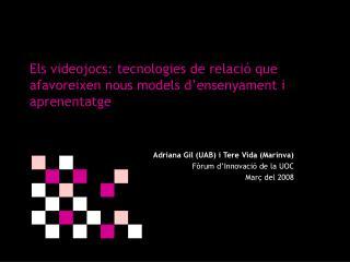 Els videojocs: tecnologies de relació que afavoreixen nous models d'ensenyament i aprenentatge