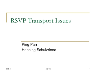 RSVP Transport Issues