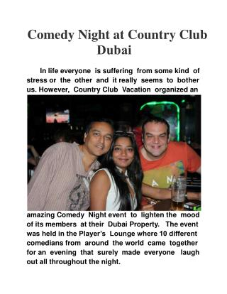 Comedy Night at Country Club Dubai