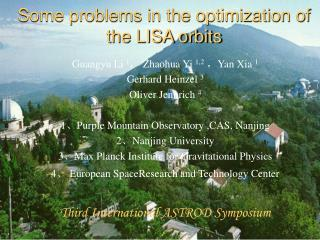 Some problems in the optimization of the LISA orbits