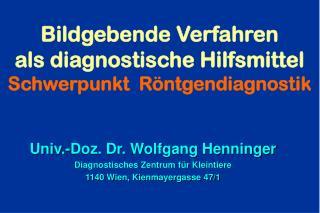 Bildgebende Verfahren  als diagnostische Hilfsmittel Schwerpunkt  R ntgendiagnostik