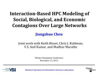 Interaction-Based HPC Modeling of Social, Biological, and Economic Contagions Over Large Networks