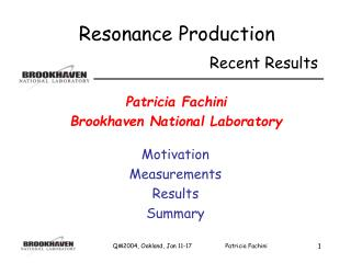 Patricia Fachini Brookhaven National Laboratory
