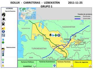 ISOLUX  -  CARRETERAS  -  UZBEKISTÁN            2011-11-25               GRUPO 1