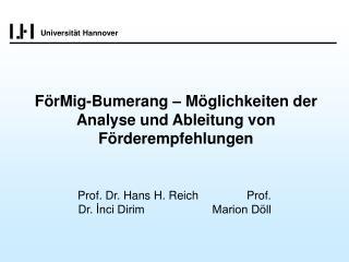 FörMig-Bumerang – Möglichkeiten der Analyse und Ableitung von Förderempfehlungen