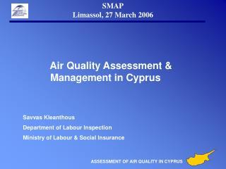 SMAP Limassol, 27 March 2006