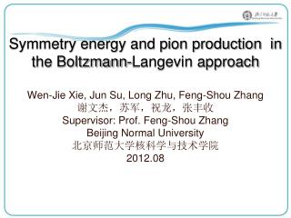 Symmetry energy and pion production  in the Boltzmann-Langevin approach