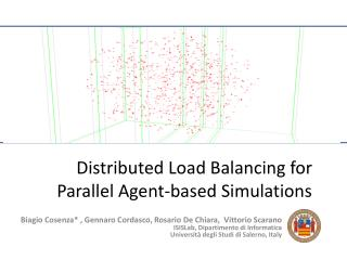Distributed Load Balancing for Parallel Agent-based Simulations
