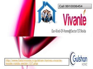gulshan homez vivante resale 9910006454