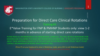 Preceptor Education  Credentialing
