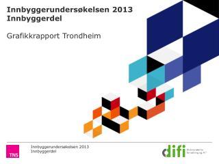 Innbyggerundersøkelsen 2013 Innbyggerdel Grafikkrapport Trondheim