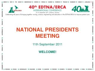NATIONAL PRESIDENTS MEETING